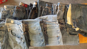 Jeans - Size 34 boys 12 pairs  $60 Strathcona County Edmonton Area image 1