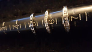 Ladies Diamond Gold Band Rings 10k & 14k