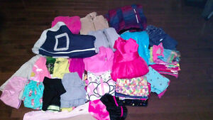 Large lot of girls size 5 clothing and winter boots