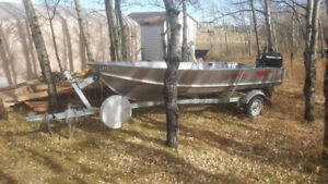 Lund Boat with trailer