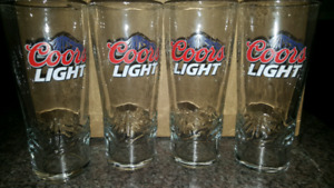 BAR: Large/Tall Coors Light Beer Glasses