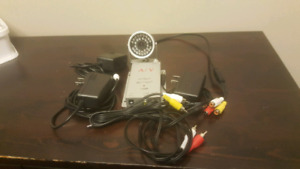 Wireless night vision camera and mic and audio video receiver