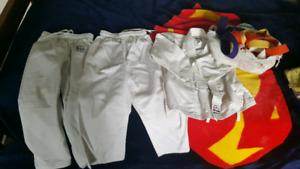 Karate Pants, shirt, belts