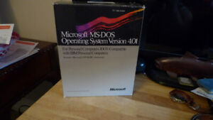 """Microsoft MS-DOS Operating System Version 4.01 5.25"""" Disks ."""