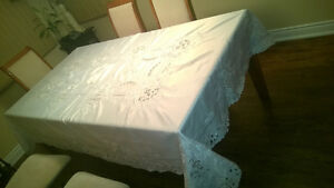 Handmade Stiched Table Cloth with 12 Napkins Kawartha Lakes Peterborough Area image 6