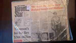 Old Toronto Star, Sunday Star, newspapers from 1970s and 1980s London Ontario image 4