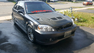 1999 civic Hatchback b16 swapped comes with full turbo set up