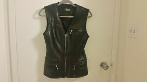Black Leather Vest by Marquis
