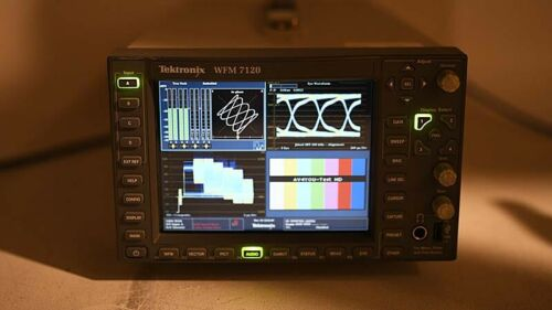 Tektronix WFM 7120 Waveform Multi-Format Monitor 7100 SD HD DAT EYE PHY DS