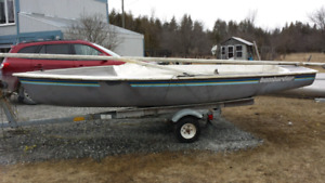 Sailboat and trailer $600