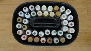 Acrylic Paint bottles in Case
