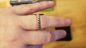 925 Silver Stack Marquise Ring sz8