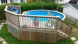 18' pool with heater- Reduced for quick sale