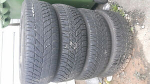 Goodyear Winter Tires On Rims! 215 60R16
