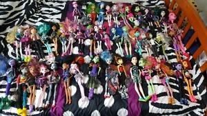 LOT of Monster High Dolls
