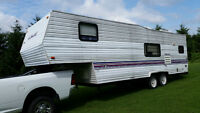 27' WILDWOOD FIFTH WHEEL OR PARK MODEL! OK FOR THE PRICE!