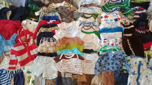 Large Lot Baby Boys' Clothes 0-6 months