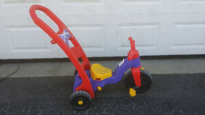.Many Little Tikes Motorcycles.
