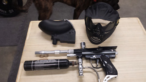 Paintball gun & gear
