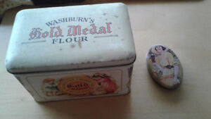 Washburn's Gold Medal Flour Tin/Coca Cola Sewing Kit