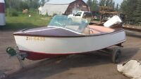 Awesome 1950's Wood Motor Boat and Motor