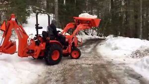 Wanted compact tractor with loader and back hoe attachment