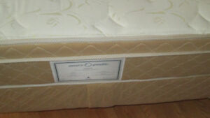Gently used double Sears mattress, box spring, and frame.