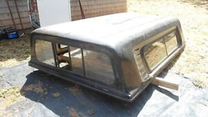 "Truck Cap Black Sliding Windows 63"" x 99"" Good Condition"