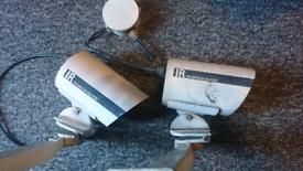 CCTV CAMERAS x2 infared color dual CCD