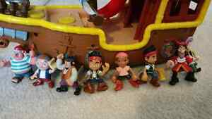 Jake And The Neverland Pirate ship and accessories