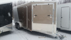 New 7X18 Enclosed Snowmobile Trailer