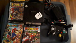 gamecube console with games