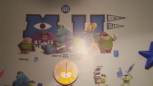Approx 20 Monsters University wall decals