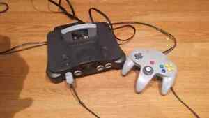 N64 console with perfect dark and expansion pack