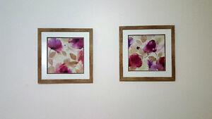 Quatre tableau de fleurs