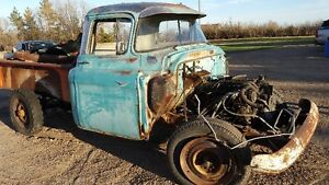 57 CHEVY TRUCK, SMALL WINDOW, long box