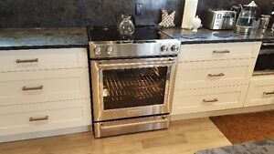 "new 30"" electric range, steam bake, steam clean, three racks"