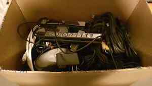 Box of wires, plugs and cables