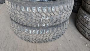 Pair of 2 Goodyear Nordic Winter 215/65R16 WINTER tires (85% tre