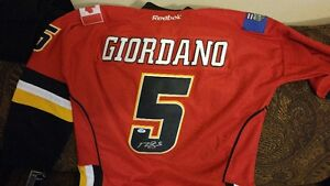 Reebok on-ice style Mark Giordano signed Captains jersey. Everyt 9c193474a