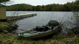 Kayak de Pêche Pelican Catch 120 équipé - moteur électrique