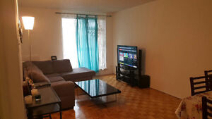3 1/2 Downtown sublease for April only , semi furnished