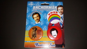 Anchorman button set The Legend of Ron Burgundy