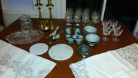 DINING & KITCHEN LOT 66 PIECES end of an estate sale must go!