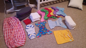 Reusable diapers, liners, etc