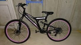"BOSS 26"" WOMANS STEALTH SUSPENSTION MOUNTAIN BIKE"