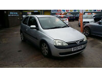 2002 VAUXHALL CORSA 1.2i SXI 16v,ONLY 46000 MILES COMPLIMENTED WITH A NEW MOT