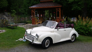 Auto antique Morris minor 1960 cabriolet