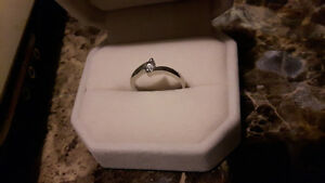 Beautiful diamond rings (promise ring and band)