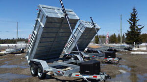 BUSHWACKER DUMP TRAILERS GALVINIEZED BLOWOUT